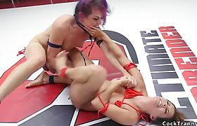 Ts wrestler and babe fucking each other