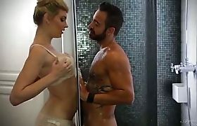 Amazing Angelina fucked in the shower