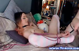 Tgirl Tied Up by her Redhead Mate