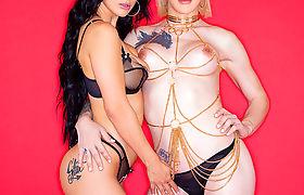 Katrina Jade enjoys the way TS Lena Kelly fucks her pussy