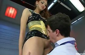 Slutty Shemale Tyler Alexander Gets Sucked