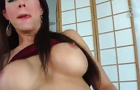 Horny amateur shemales anal fucking on couch