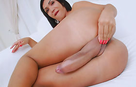 Transsexual Babe Sabrina Suzuki Plays With Her Big Cock