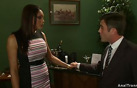 Tied up politican anal fucked by tranny