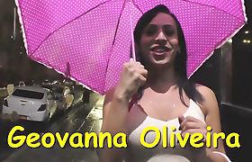 Geovanna Oliveira jerking her shecock