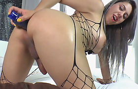 Big Assed Tranny Julie T Enjoys Playing With A Dildo