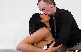 Foxy Latin shemale butt fucked
