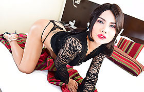 Sexy TS Skye have sex with her new lover with a big cock