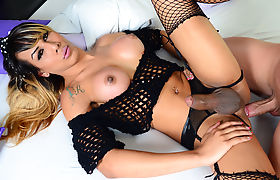 Big Boobed TS Girl Kessy Bittencour Gets It Hard
