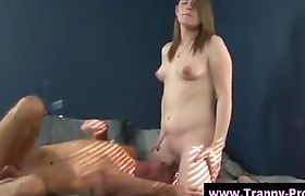 Tranny gets her cock sucked