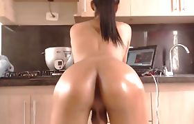TS Teen With A Perfect Oiled Up Ass