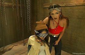 Jessy Dubai has Darling Deicide in dungeon
