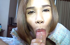 Horny thai ladyboy banged by a client with a big cock