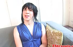 Solo tranny auditioning at casting interview
