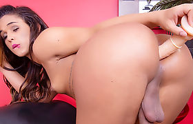 Tgirl Felipa Lins Hot Dildo Masturbation
