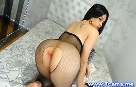TS Babe shows her Jiggly Tits and Big Tasty Ass