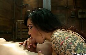 Shemale fucks guy with his gf