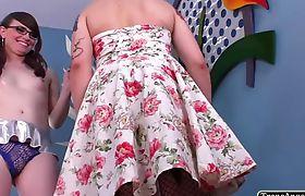 Alluring TS Isabella bangs Natalies tight ass from behind