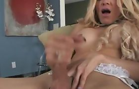 neat blondie with brutal cock