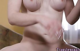 Erotic transgender babe fucked