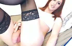 Trans Babe In Stockings