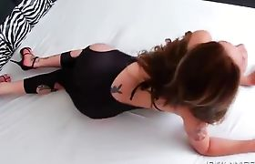 Carla Cardille in Cutout Dress