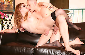 Busty Tranny Tiffany Starr Gets Her Ass Drilled
