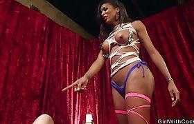 Shemale lap dancer anal bangs dude