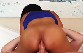 Perverted tourist anal fucks a small tits Asian tranny