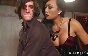 Big cock tranny bangs students couple
