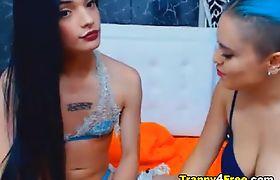 Sexy Tranny Fucks Her Female Friend