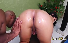 Black guy fucking fat tranny slut