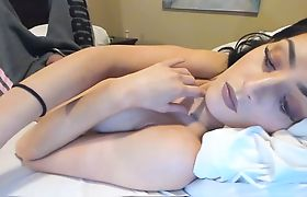 Shemale Doll With Big Tits Stroking Her Magnificent Dick