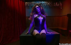 Shemale stripper anal fucks sound guy