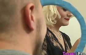 Tranny ho in lingerie gets anally banged
