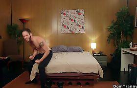 Huge dick transsexual anal fucks guy