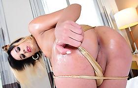 TS Superstar Rafaella Ferraz gets doggy by dudes bigcock