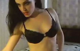 Busty Ladyboy Masturbation Show
