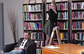 Horny Shemale Librarian plowed by white customer