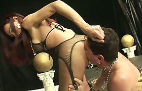 Fucked by red-haired shemale
