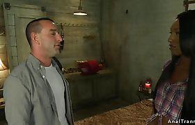 Black shemale fucks bf in haunted cabin