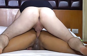 Busty shemale escort satisfied client with big penis