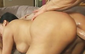 Ladyboy Carmen Moore horny threesome with sexy Carrie Anne