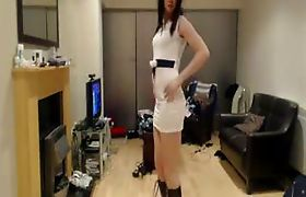 Gorgeous Crossdresser in sexy outfit