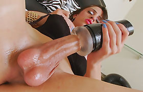 Latin Tranns Stefany Souza Enjoys Playing With A Sex Toy