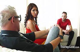 Dude sucked latona tranny cock
