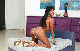 Damn gorgeous tgirl Guilhermina Johansen in hot masturbation