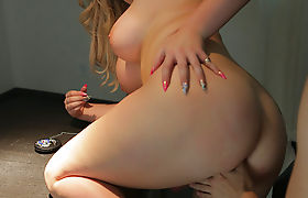 TS Aspen Brooks loves having sex with new lovers big cock