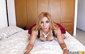 Cock sucking tranny babe anally ruined