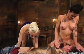 Tranny with gf anal banging alt dude